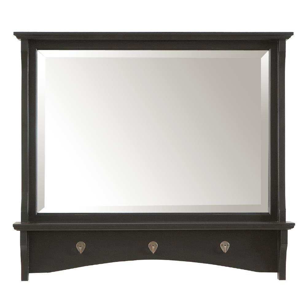 28 in. x 35.5 in. Antique Black Winston Framed Mirror