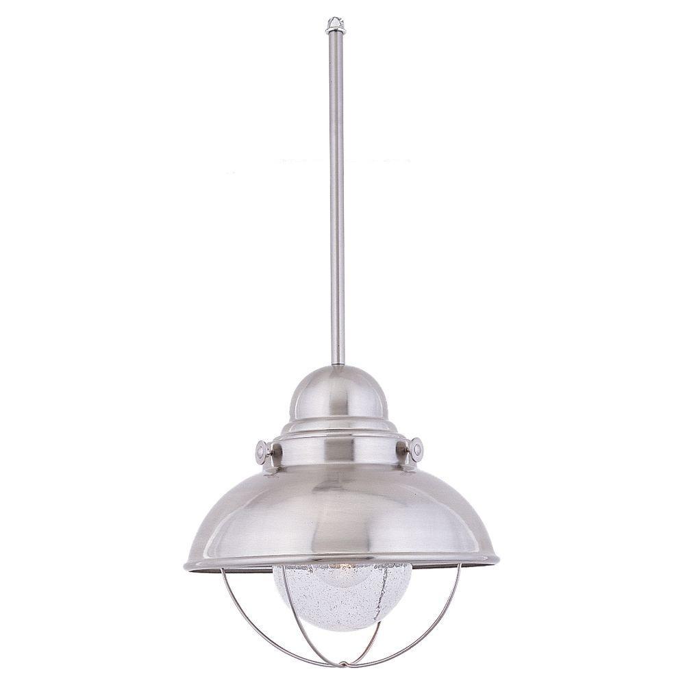stainless steel pendant lighting. sebring 1light brushed stainless outdoor pendant steel lighting n