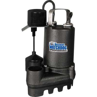 1/2 HP Cast Iron Submersible Sump Pump with Vertical Switch