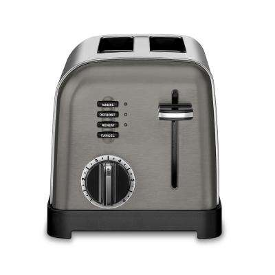 Classic 2-Slice Black Stainless Steel Toaster