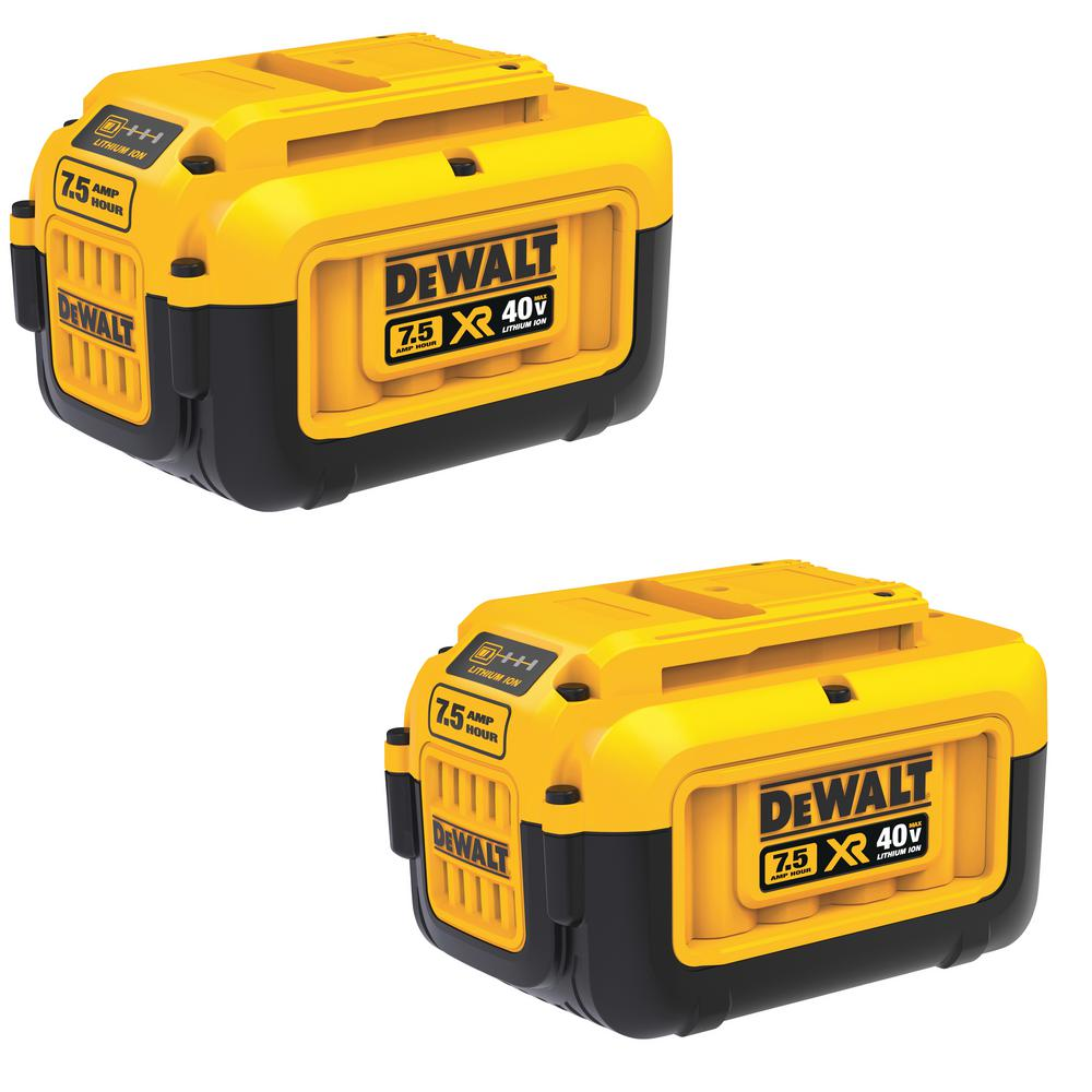 DEWALT 40-Volt MAX 7.5 Ah Lithium-Ion Battery Pack (2-Pack)