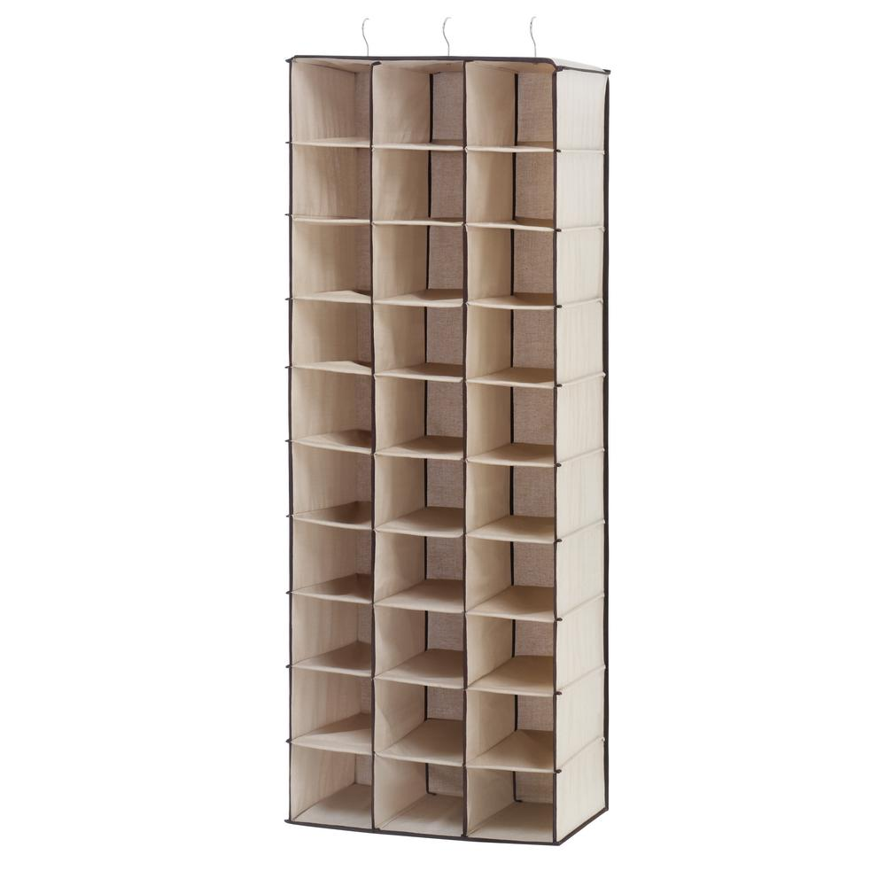 Whitmor 30-Section Hanging Shoe Shelf White