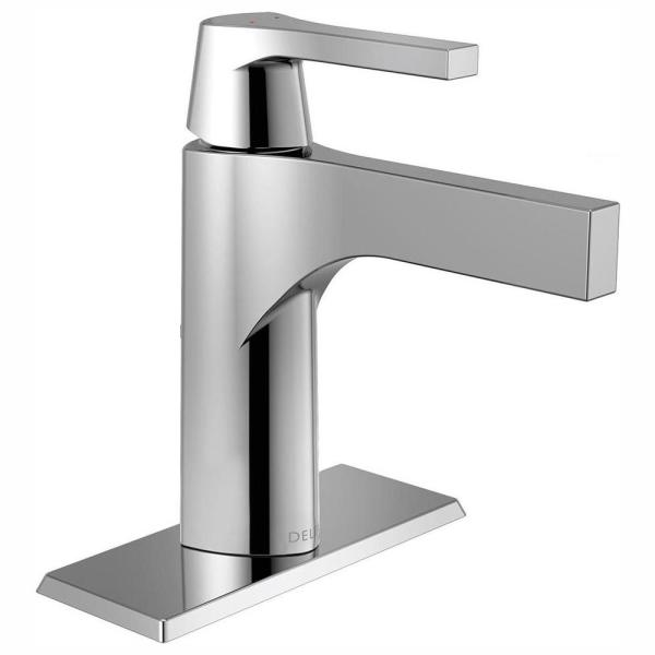 Zura Single Hole Single-Handle Bathroom Faucet with Metal Drain Assembly in Chrome