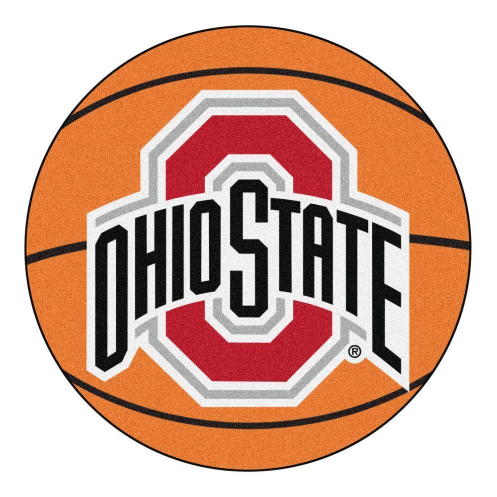 NCAA Ohio State University Orange 2 ft. x 2 ft. Round Area Rug