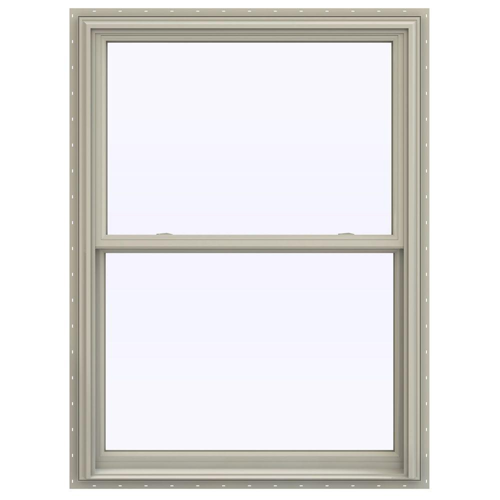 39.5 in. x 59.5 in. V-2500 Series Double Hung Vinyl Window
