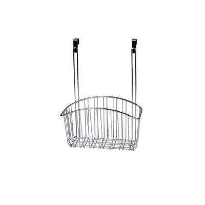 Contempo 10.5 in. W x 6.375 in. D x 14 in. H Over the Cabinet Large Basket in Chrome