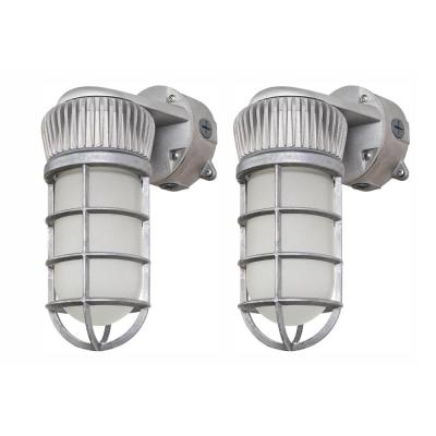 150-Watt Equivalent Integrated Outdoor LED Area and Flood Light, 1900 Lumens, Outdoor Security Lighting (2 Pack)