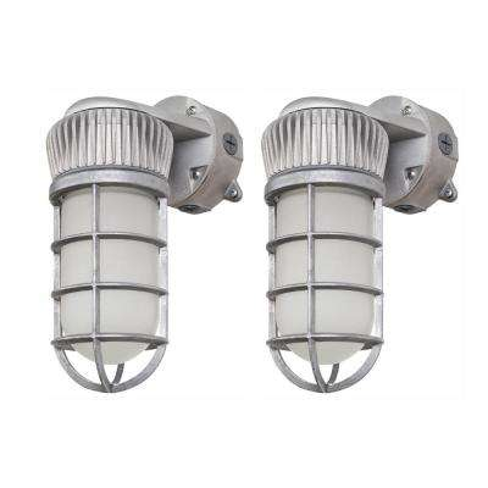 14-Watt Vapor-Tight Integrated LED Area and Flood Light, Sand Blast Gray, Outdoor Security Lighting (2 Pack)