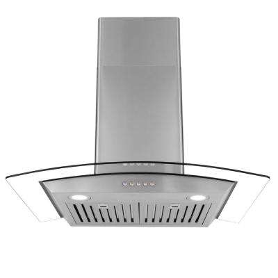 30 in. Ducted Wall Mount Range Hood in Stainless Steel with Push Button Controls, LED Lighting and Permanent Filters