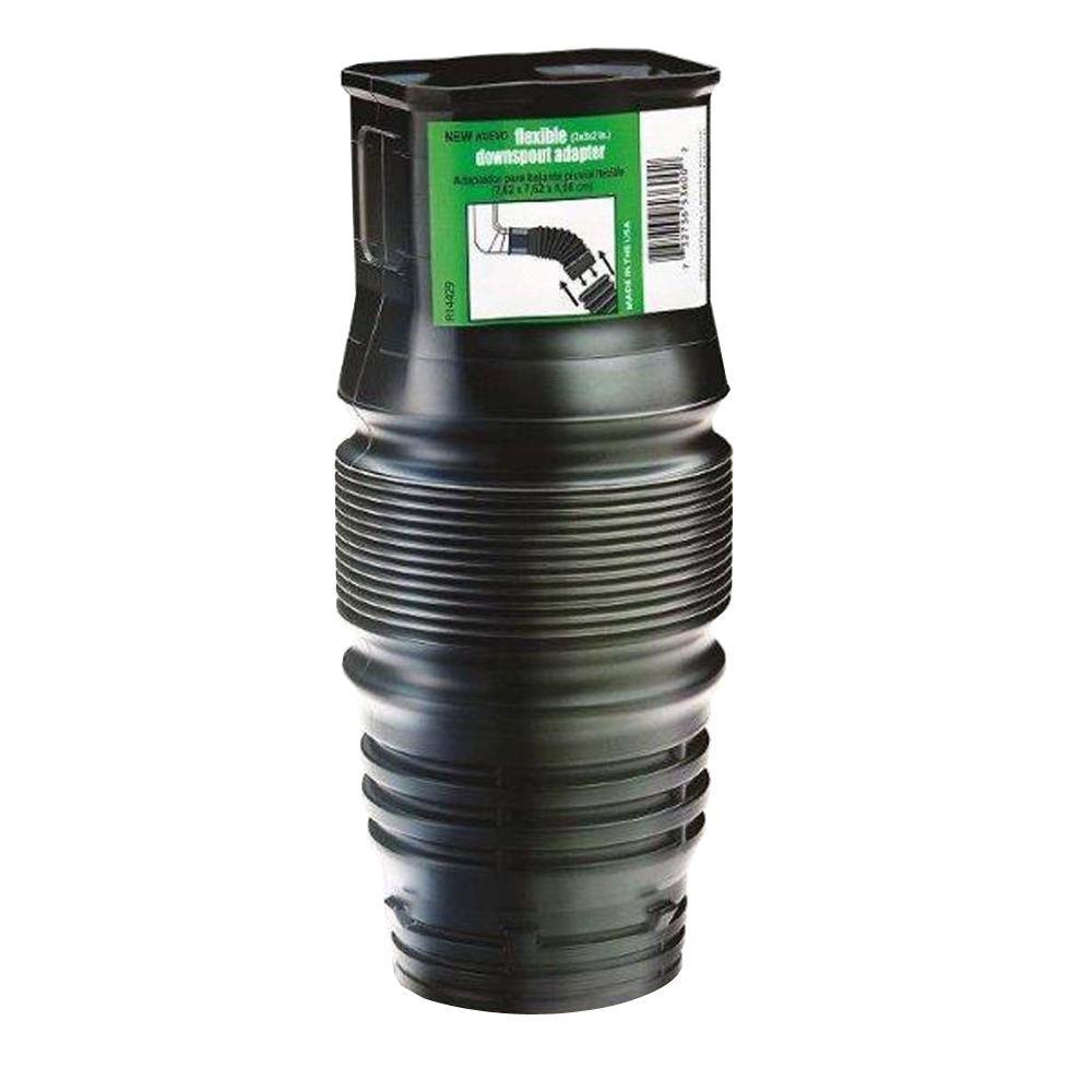 FLEX-Drain 2 in. x 3 in. x 3 in. Polypropylene Downspout Adapter