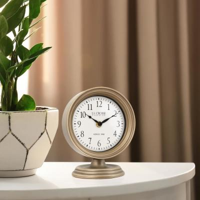 7 In. Mabel Metal TableTop Analog Quartz Clock