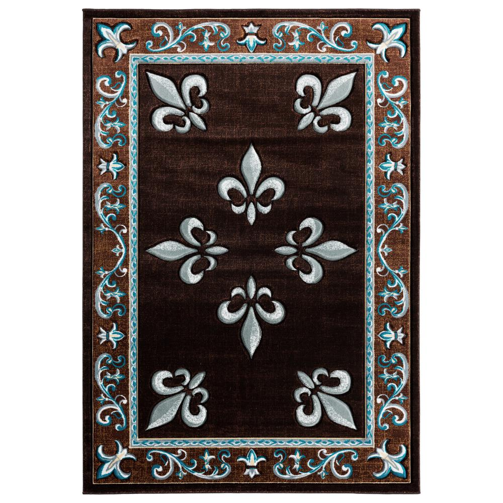 United Weavers Bristol Casselton Turquoise 1 ft. 10 in. x 2 ft. 8 in. Accent Rug