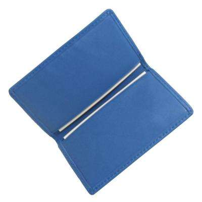 Ocean Blue Business Card Case in Genuine Leather