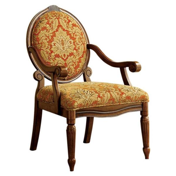 Traditional Antique Oak Finish Hammond Accent Chair