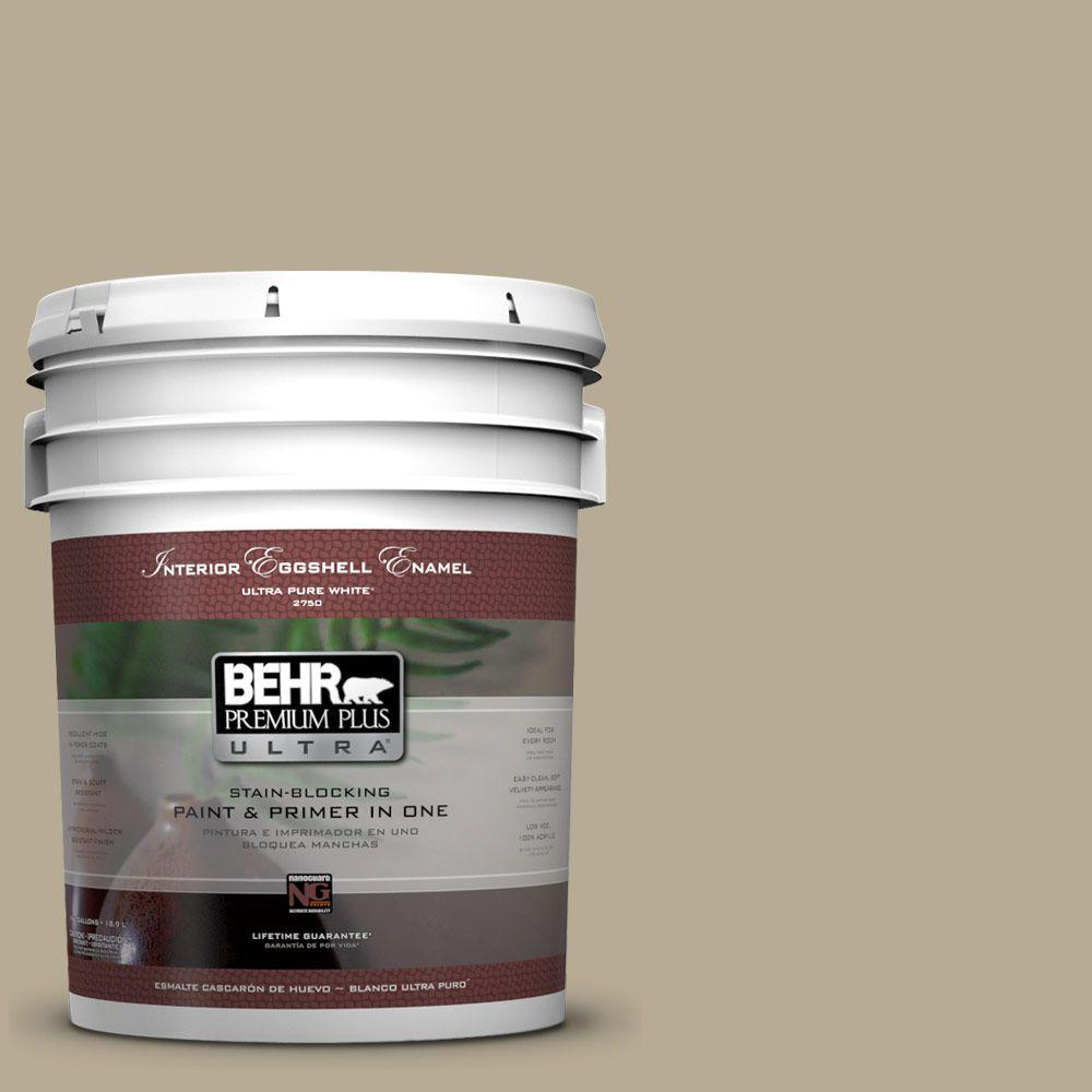 BEHR Premium Plus Ultra 5-gal. #N330-4 Explorer Khaki Eggshell Enamel Interior Paint