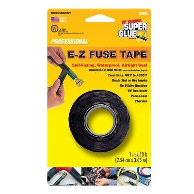 1 in. x 10 ft. Black E-Z Fuse Silicone Tape (12-Pack)
