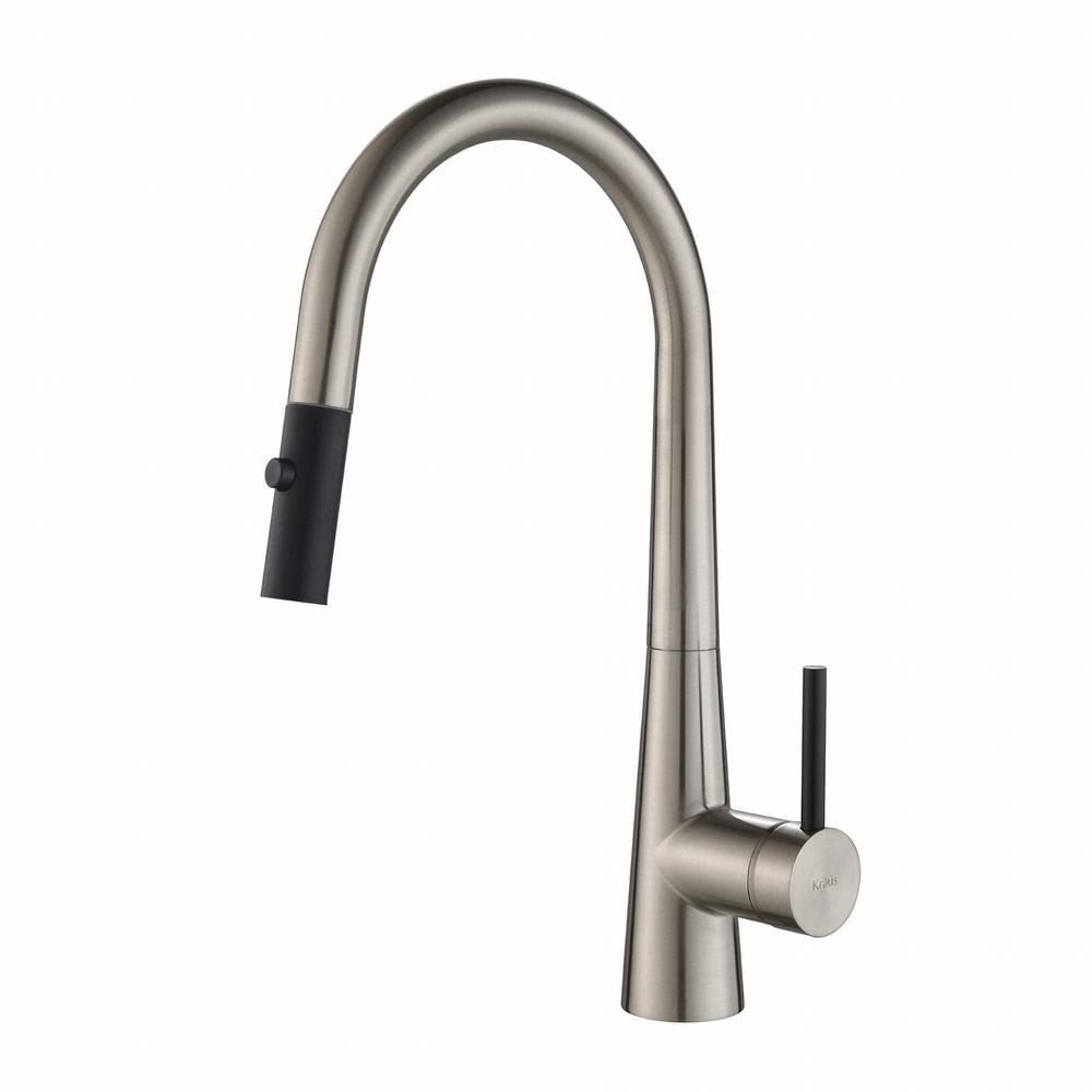 Crespo Single-Handle Pull-Down Kitchen Faucet with Dual-Function Sprayer in