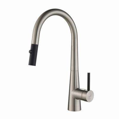 Crespo Single-Handle Pull-Down Kitchen Faucet with Dual-Function Sprayer in Stainless Steel