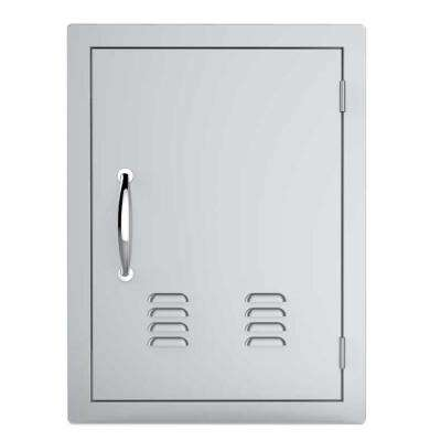 Classic Series 17 in. x 24 in. 304 Stainless Steel Vertical Access Door with Vents