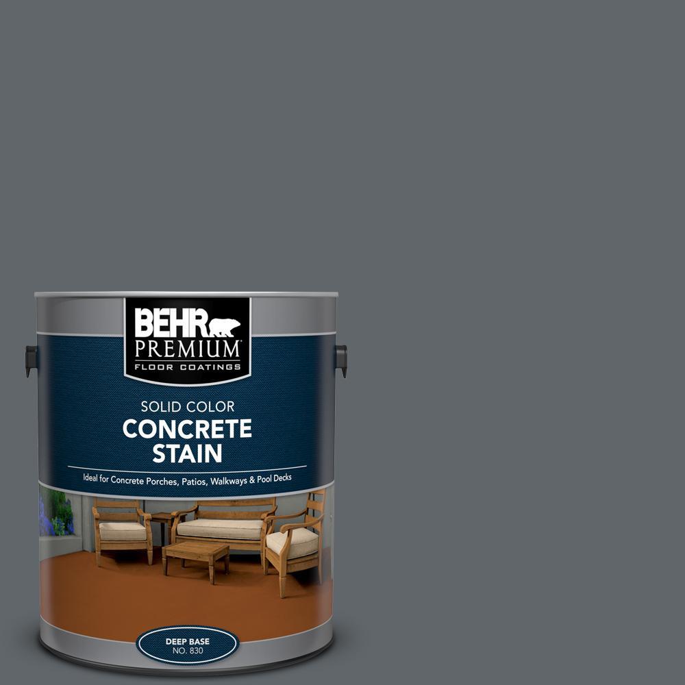 BEHR PREMIUM 1 gal. #PFC-65 Flat Top Solid Color Flat Interior/Exterior Concrete Stain
