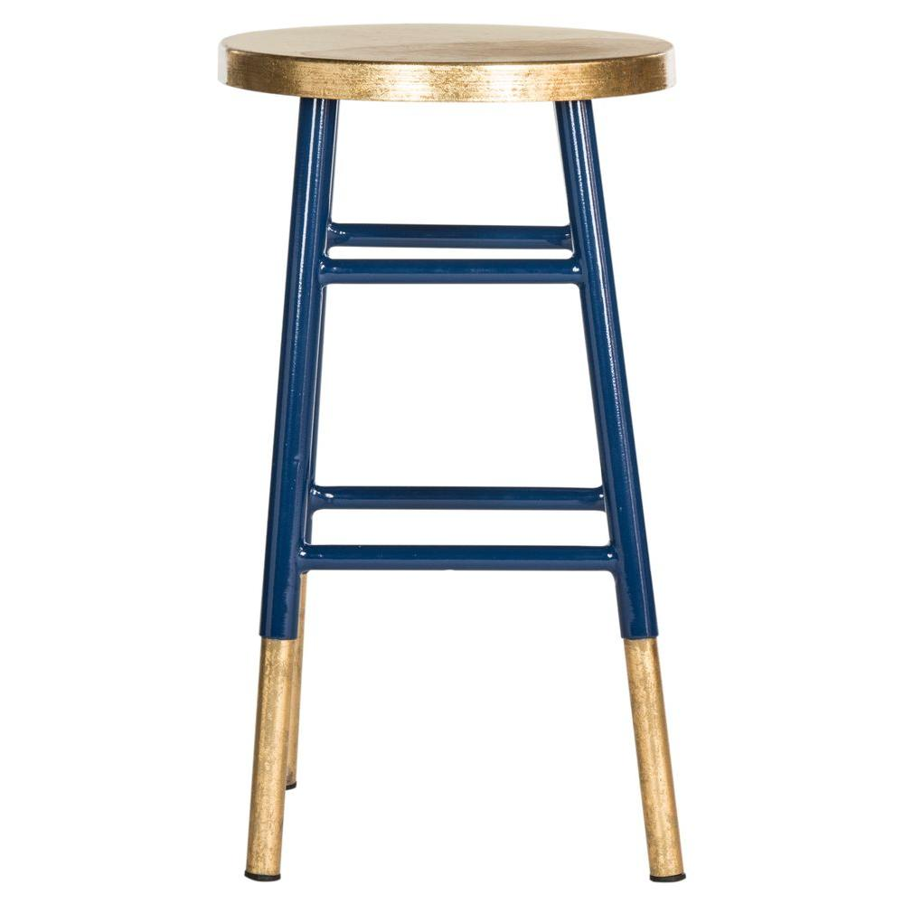 navy and gold bar stool. safavieh emery  in navy and gold bar stoolfoxa  the home