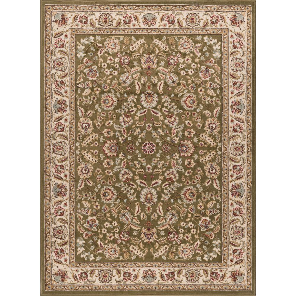 Tayse Rugs Laguna Green 8 Ft X 10 Ft Indoor Area Rug