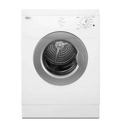 3.8 cu. ft. 240-Volt White Electric Vented Dryer