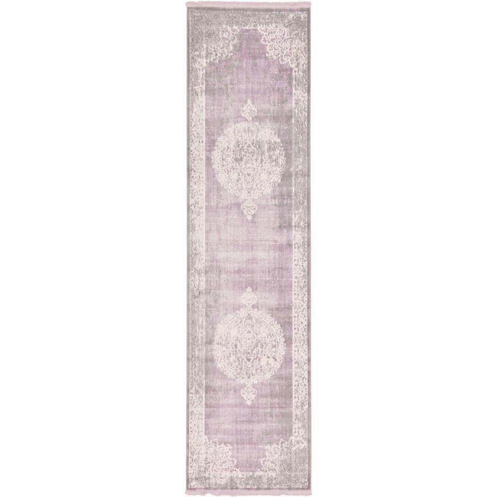 "New Classical Purple 2'7"" x 10' Runner Rug"