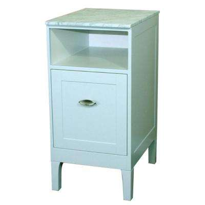 Lakewood 16 in. W x 20 in. D Vanity in White with Marble Vanity Top in White