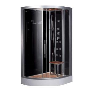 Ariel 47.7 inch x 35.4 inch x 89 inch Steam Shower Enclosure Kit in Black by Ariel