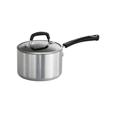 Style Polished Aluminum 2 Qt. Covered Sauce Pan