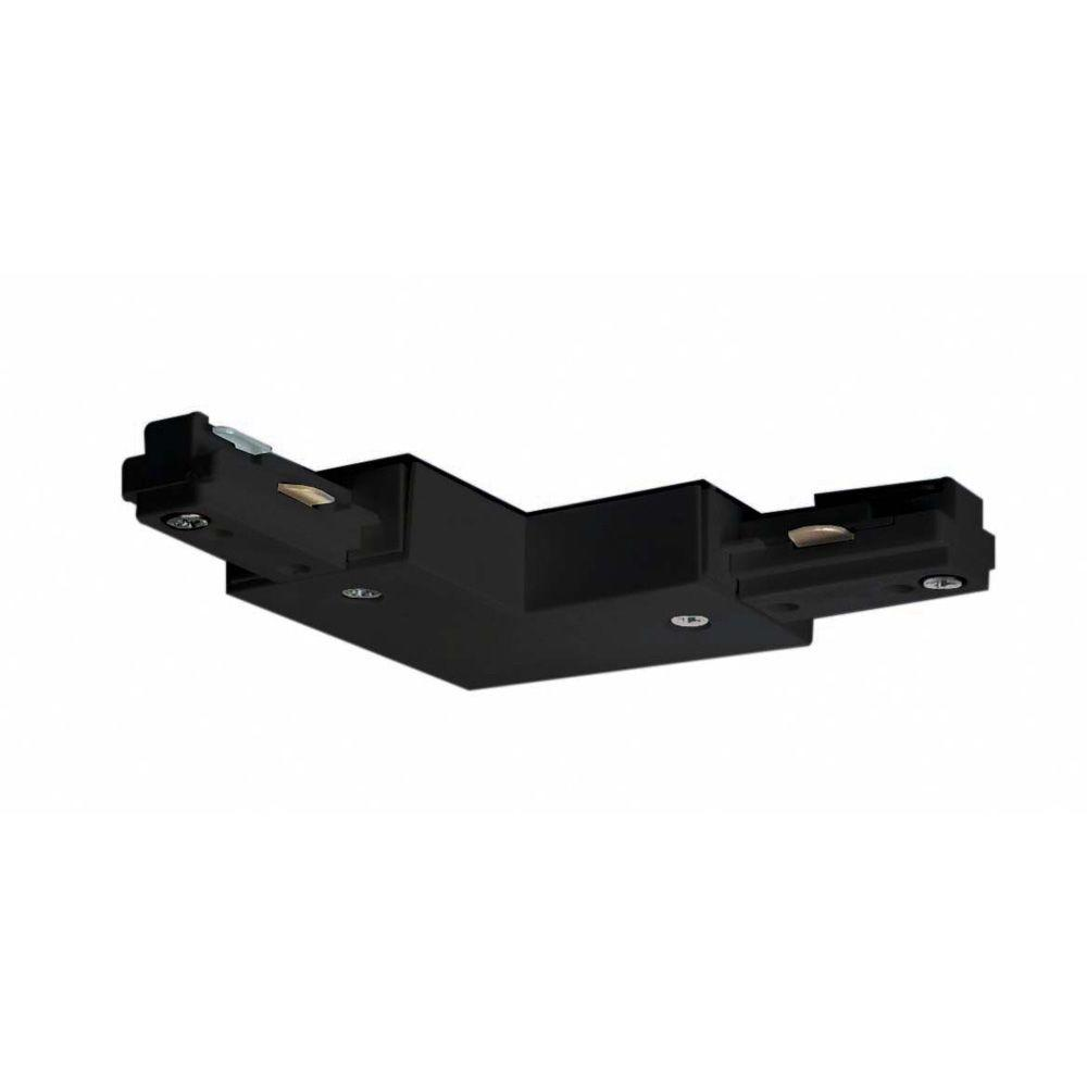Glomar Black Track Lighting L Connector