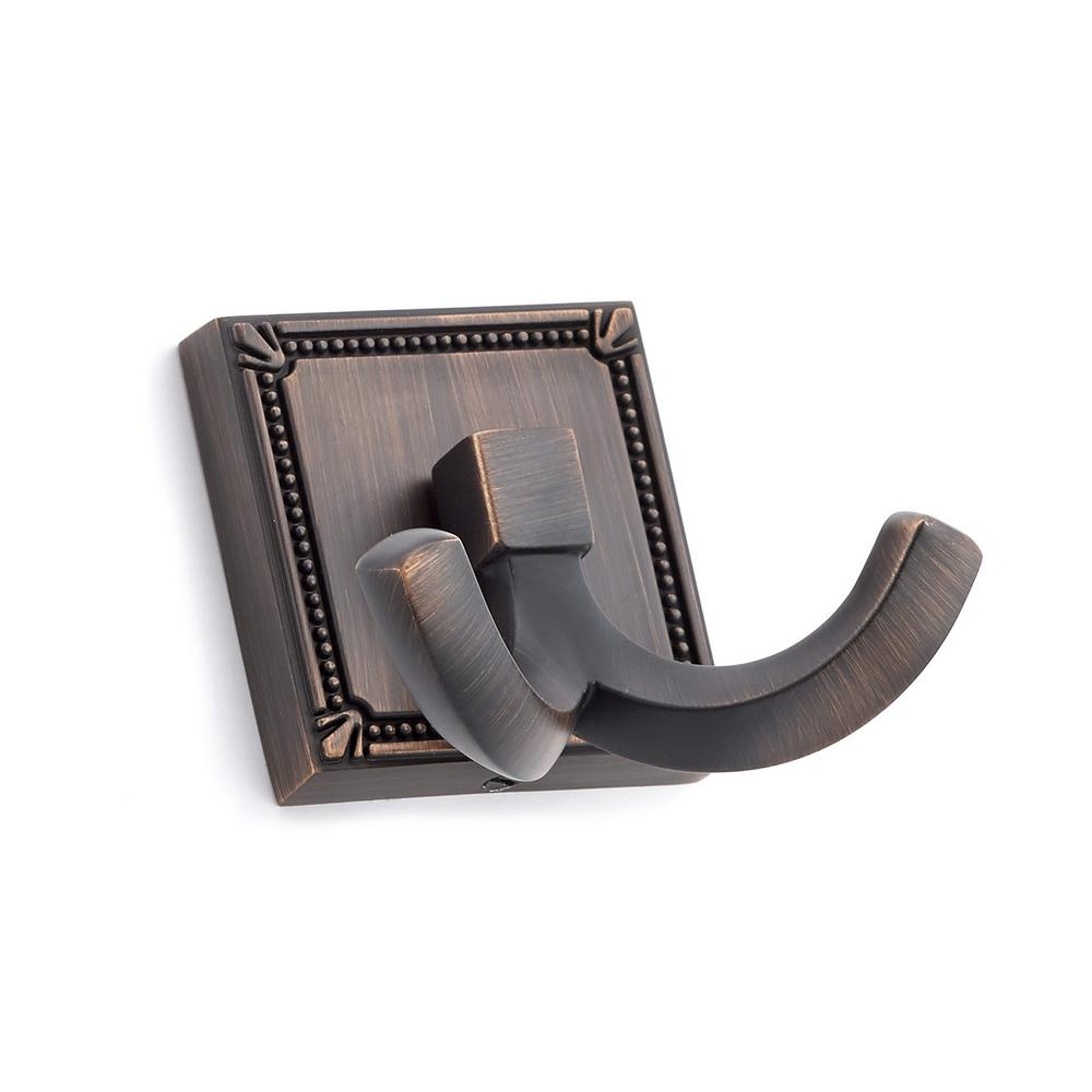 2-1/4 in. (57 mm) Brushed Oil-Rubbed Bronze Decorative Hook