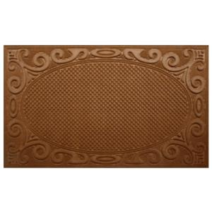 A1HC First Impression Marvin Tan 36 inch x 60 inch Polypropylene Indoor/Outdoor Door Mat by