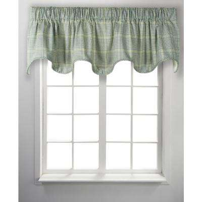 Harrington 17 in. L Cotton Lined Scallop Valance in Lagoon