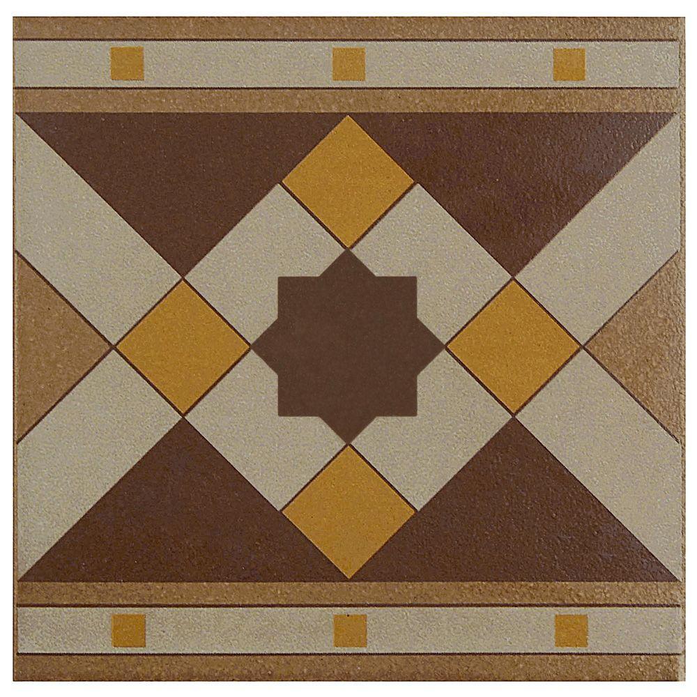 Merola tile the home depot cementi quatro geo cenefa 7 in x 7 in porcelain floor dailygadgetfo Gallery