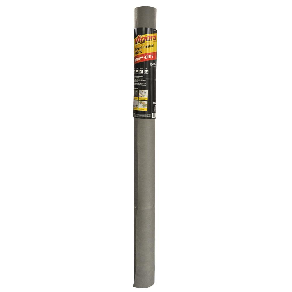 Vigoro 6 ft. x 100 ft. Contractor Weed Barrier Landscape Fabric, Heavy Duty, Commercial Grade