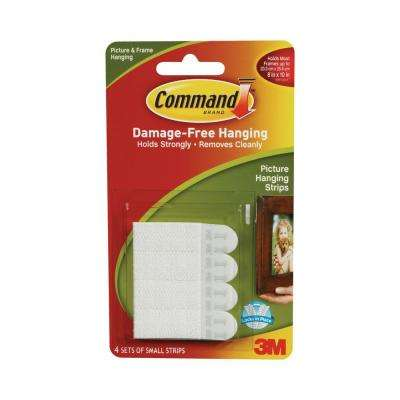 1 lb. Small White Picture Hanging Strips (4-Strips)