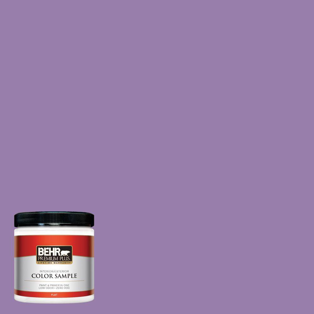 650b 6 Elite Wisteria Flat Interior Exterior Paint And Primer In One Sample