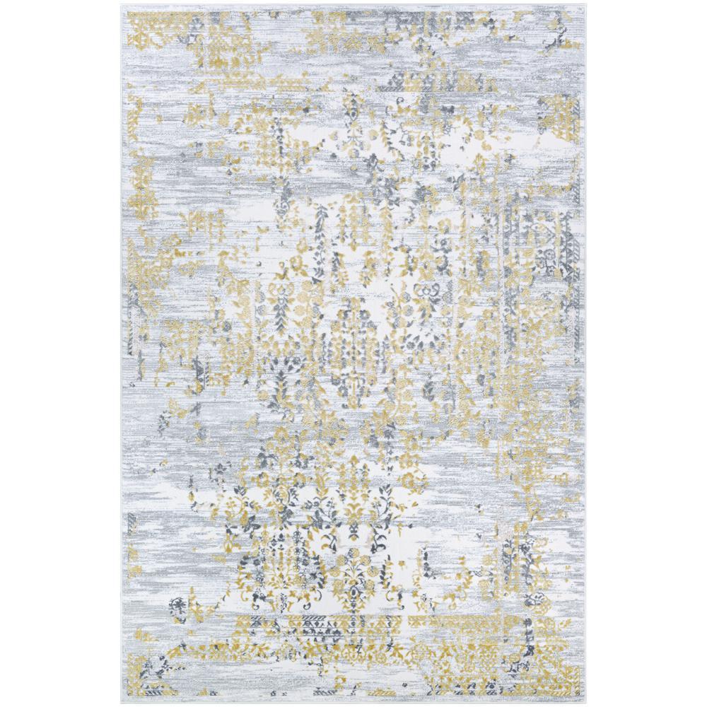 Calinda Samovar Gold-Silver-Ivory 5 ft. x 8 ft. Area Rug