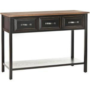 Amazing Safavieh Michael Black And Oak Storage Console Table Gmtry Best Dining Table And Chair Ideas Images Gmtryco