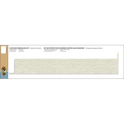 Tempo Laminate Reversible Contour End Splash Kit in White Cascade