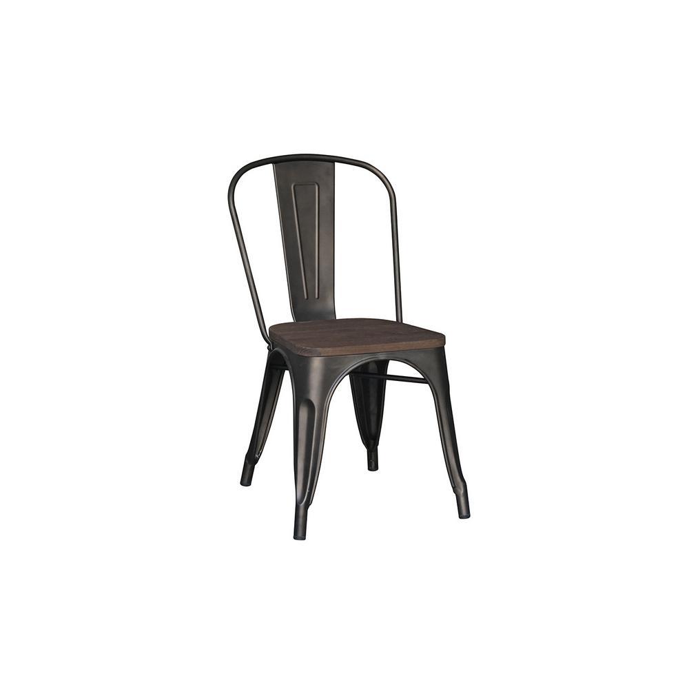 Matte Gunmetal Dining Chair (Set of 2)