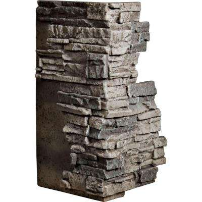 1-1/2 in. x 13-3/4 in. x 25 in. Platinum Urethane Stacked Stone Outer Corner Wall Panel