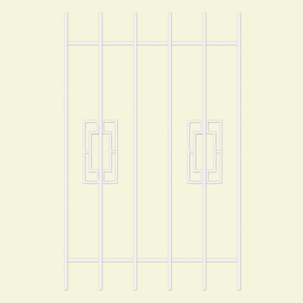 Unique Home Designs Modern Trifecta 30 in. x 48 in. White 6-Bar Window Guard-DISCONTINUED