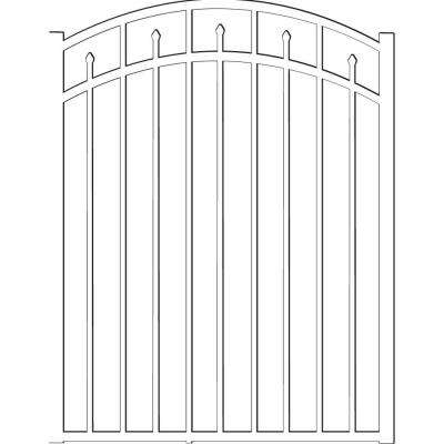 Brilliance Standard-Duty 4 ft. W x 4.5 ft. H White Aluminum Arched Pre-Assembled Fence Gate