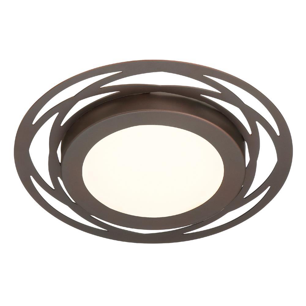 14-Watt 11.5 in. Edge Lit Satin Bronze Integrated LED Flush Mount