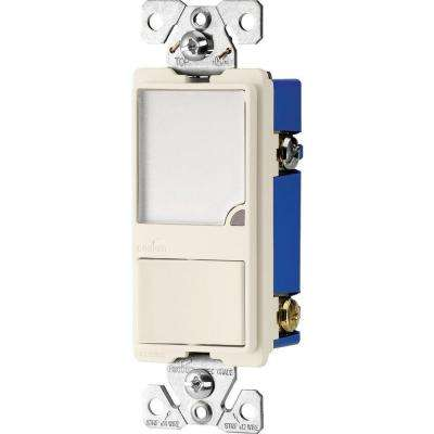 15 Amp Single Pole Combination Switch and Dimmable LED Nightlight, Light Almond