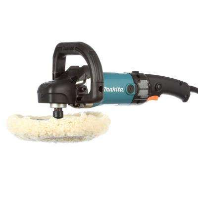 10 Amp 7 in. Corded 3,000 RPM Variable Speed Polisher with Side Handle, Wool Bonnet and 21 in. Contractor Bag