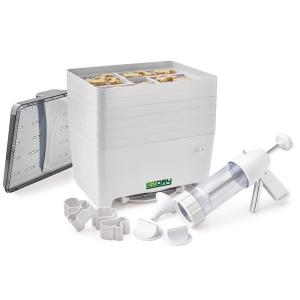 Click here to buy Excalibur 6-Tray Pet Treat Dehydrator with Gun and Cookie Cutters by Excalibur.